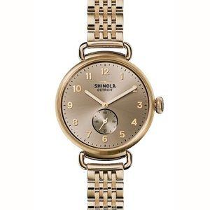 Shinola The Canfield Bracelet Strap Watch, Golden